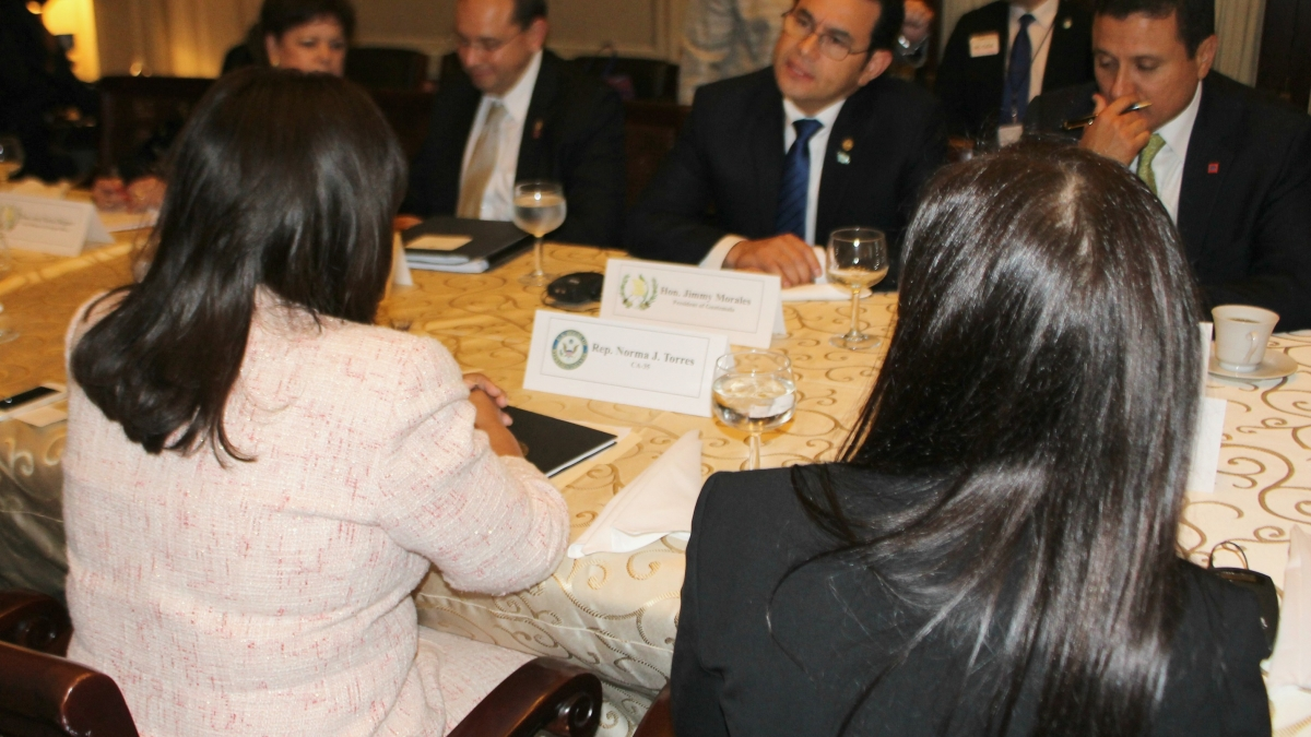 Torres meets President Jimmy Morales of Guatemala