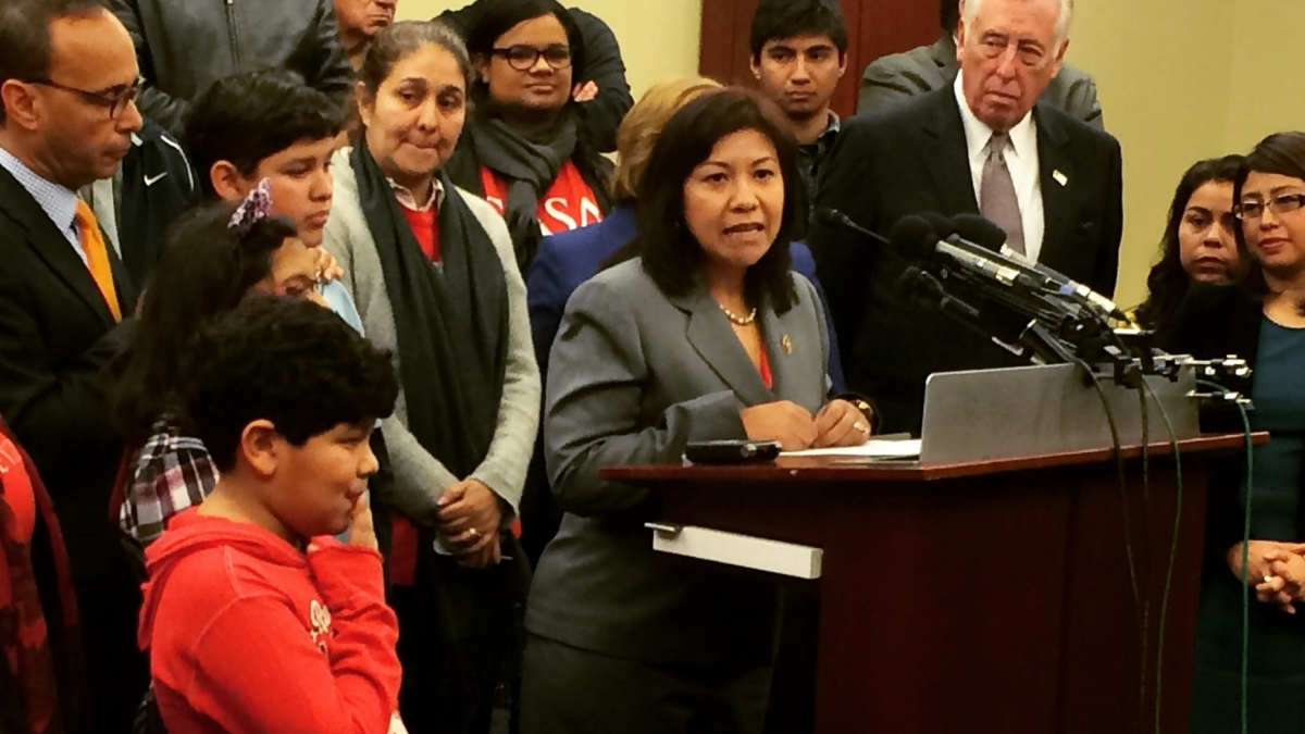 Rep. Torres joins immigrant families at press conference opposing harmful amendments to Homeland Security funding bill