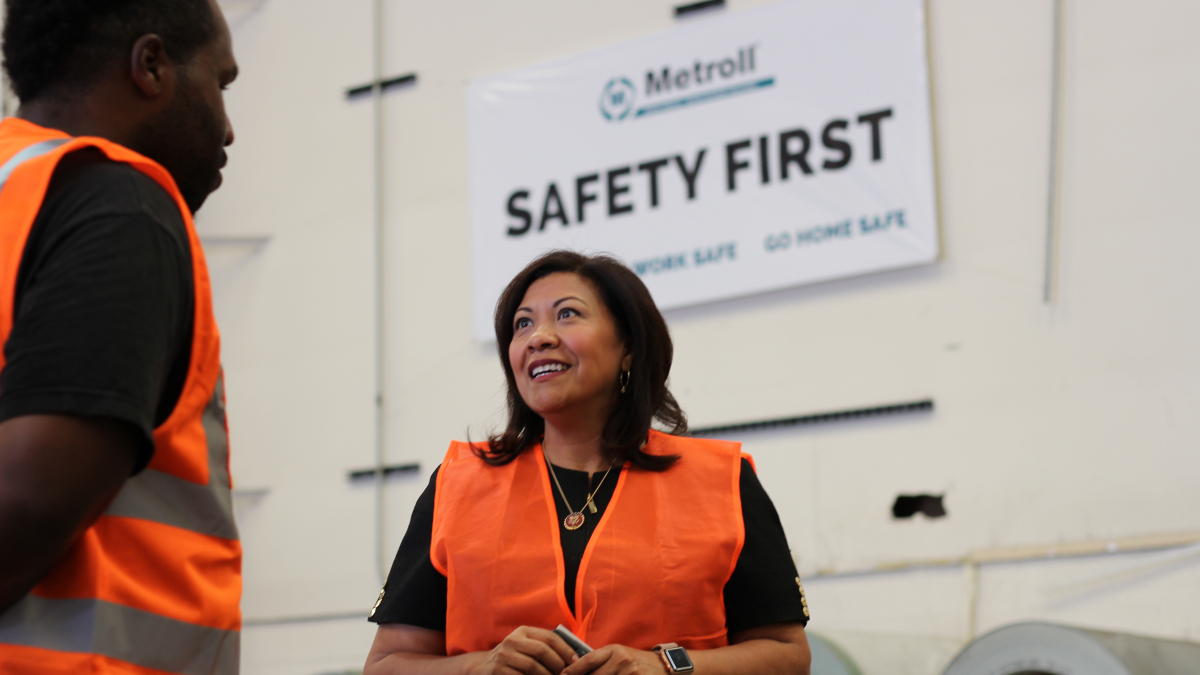 Congresswoman Torres visits Metroll in Fontana