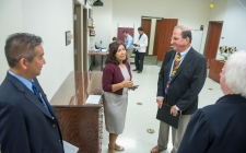 Rep. Torres at Western University Eye Care Center